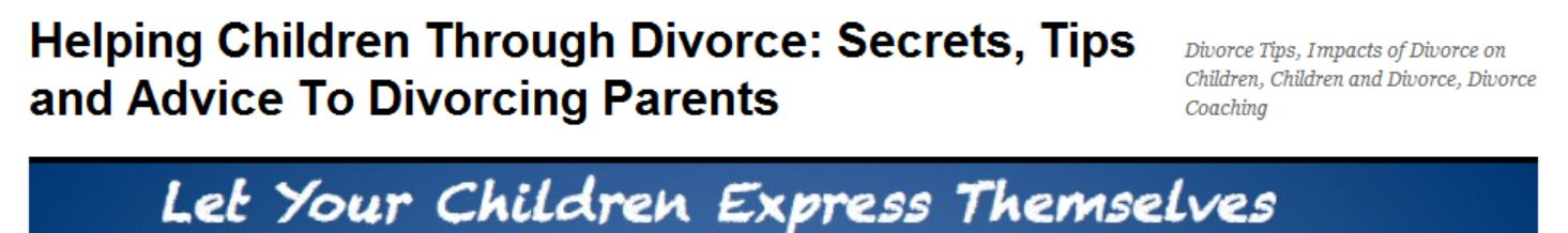 Helping Children Through Divorce